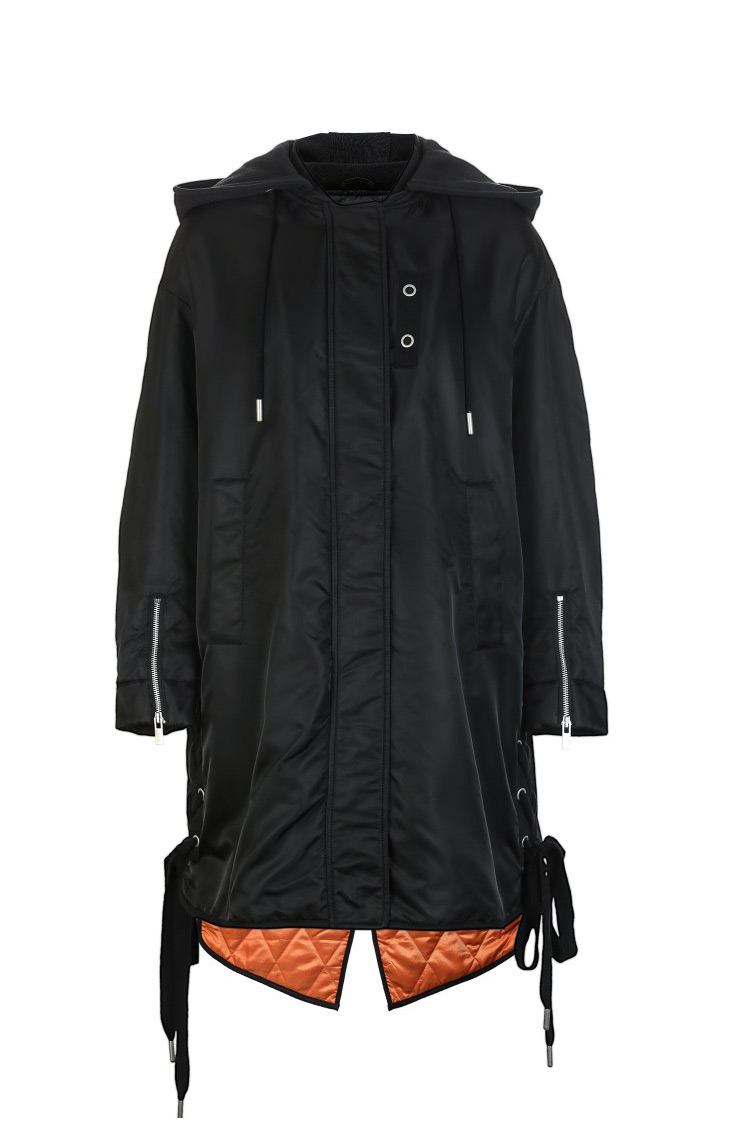 ONLY Women's Lace-up Hooded Cotton Coat |118122502 18