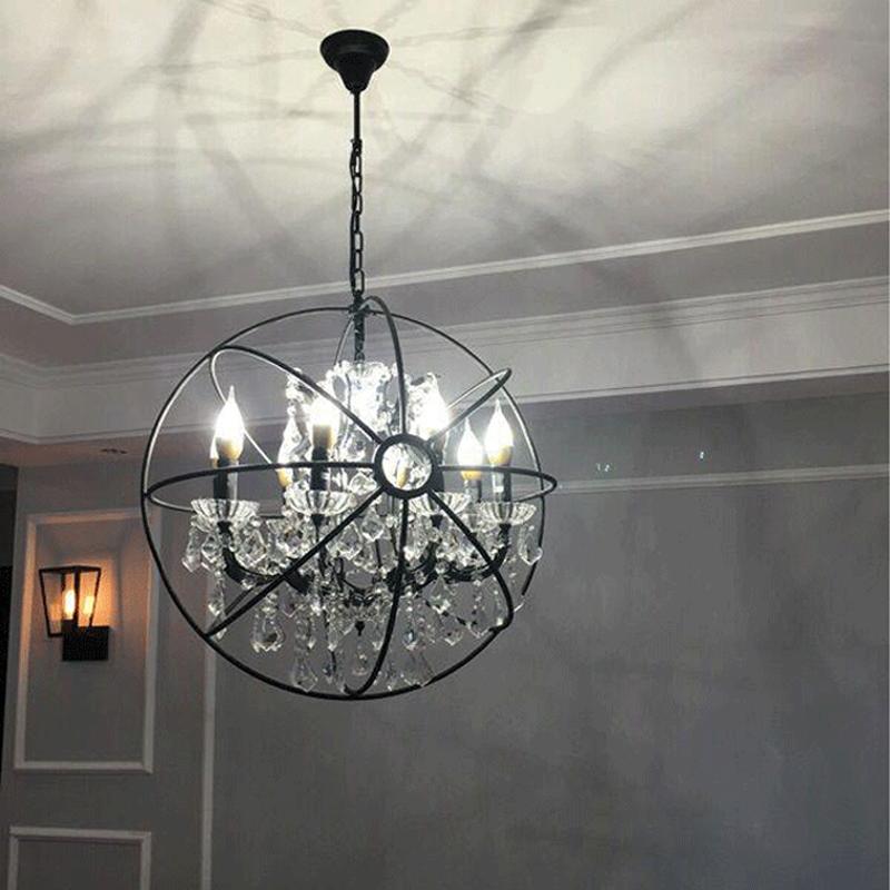 Crystal Orb Chandelier Lamp Lighting