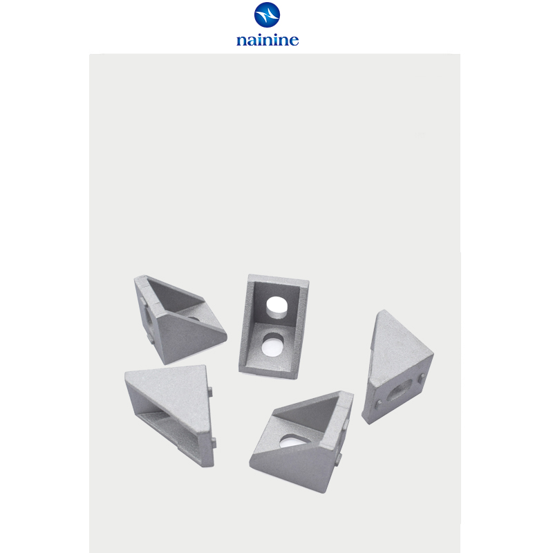 80//20 Inc T-Slot Aluminum 3 Hole Inside Corner Bracket 40 Series #40-4376 N
