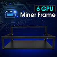 New Crypto Coin Open Air Mining Miner Frame Rig Case Up To 6 GPU ETH BTC