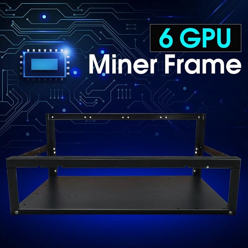 Nueva crypto moneda aire minería minero Marcos Rig case hasta 6 GPU ETH BTC ethereum computadora de alta calidad caso torres para BTC