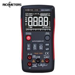 Botão RM409B-True RMS Multímetro Digital 9999 Counts Com Gráfico de Barras Analógico AC/DC Tensão Amperímetro Ohm Atual auto/Manual