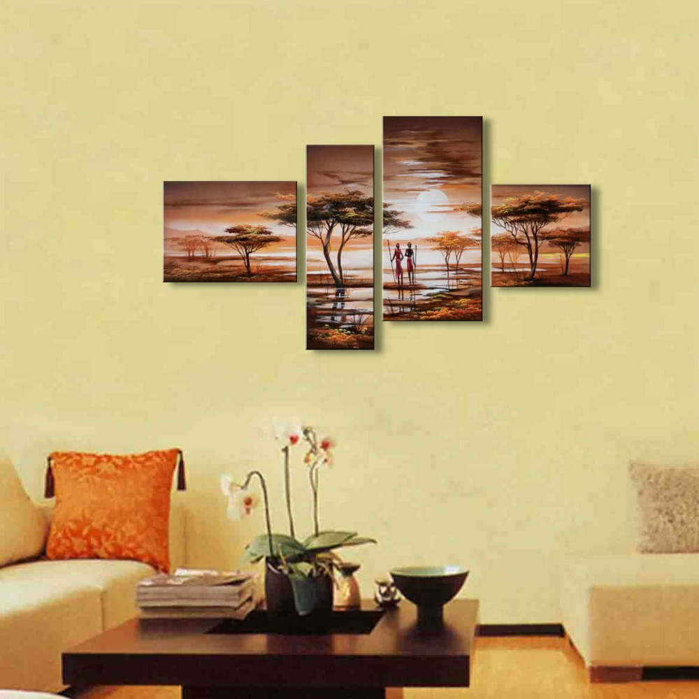 handmade oil painting on canvas modern Africa Landscape Painting ...