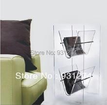 (KD Упаковки) напольные Прозрачный Акриловый журнал хранения стойку Домашнего использования, Lucite Office newspaper Display Stand