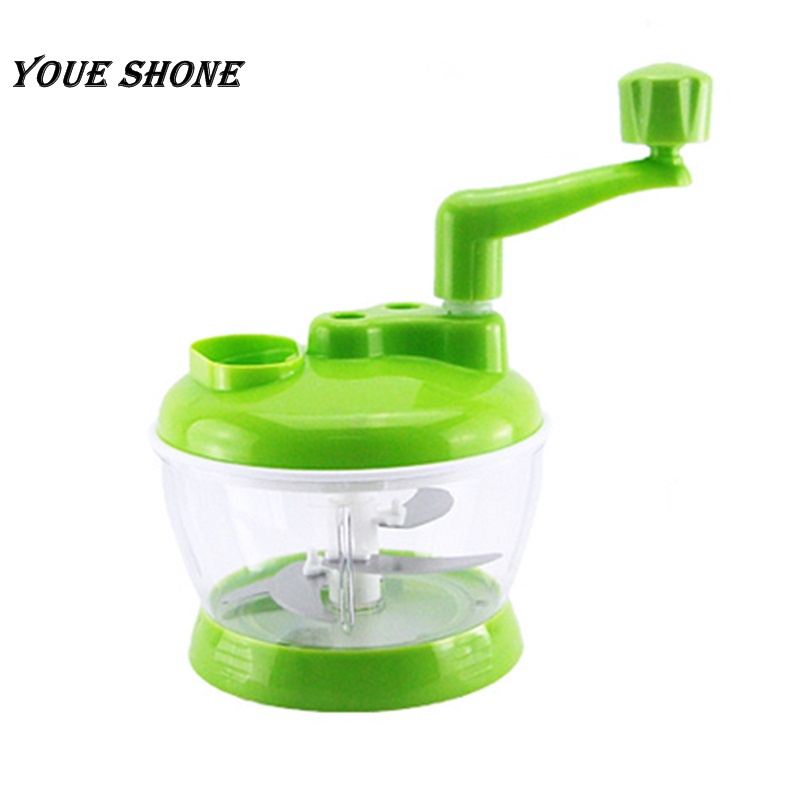 Youe shone Meat Grinder Vegetable Chopper Quick Shredder Green Cutter Multi-function Kitchen Manual Food Cutter Household