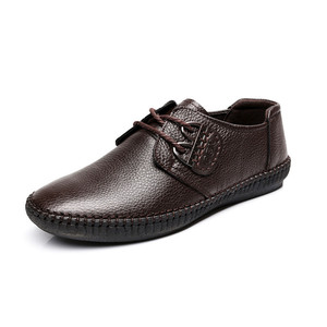 Image 4 - Mens Fashion cow Leather Shoes Working Shoes Lace Up Business Casual Genuine Leather Shoes Flats Male sneaker Zapatos De Hombre