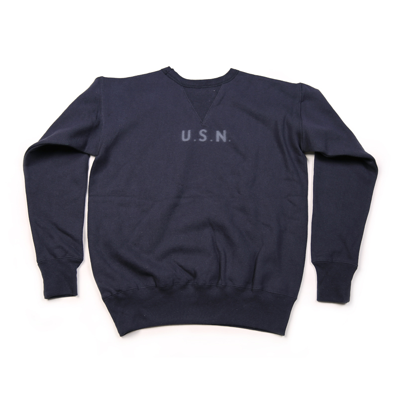 Bronson Repro 1940s USN Training Plain Sweatshirt Vintage Naval Clothing For Men Military Pullover sweatshirt