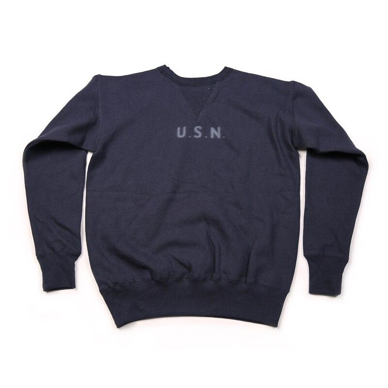 Bronson Repro 1940 วินาที USN การฝึกอบรม Plain เสื้อกันหนาว Vintage Naval เสื้อผ้าผู้ชาย Pullover-ใน เสื้อฮู้ดและเสื้อกันหนาว จาก เสื้อผ้าผู้ชาย บน   1