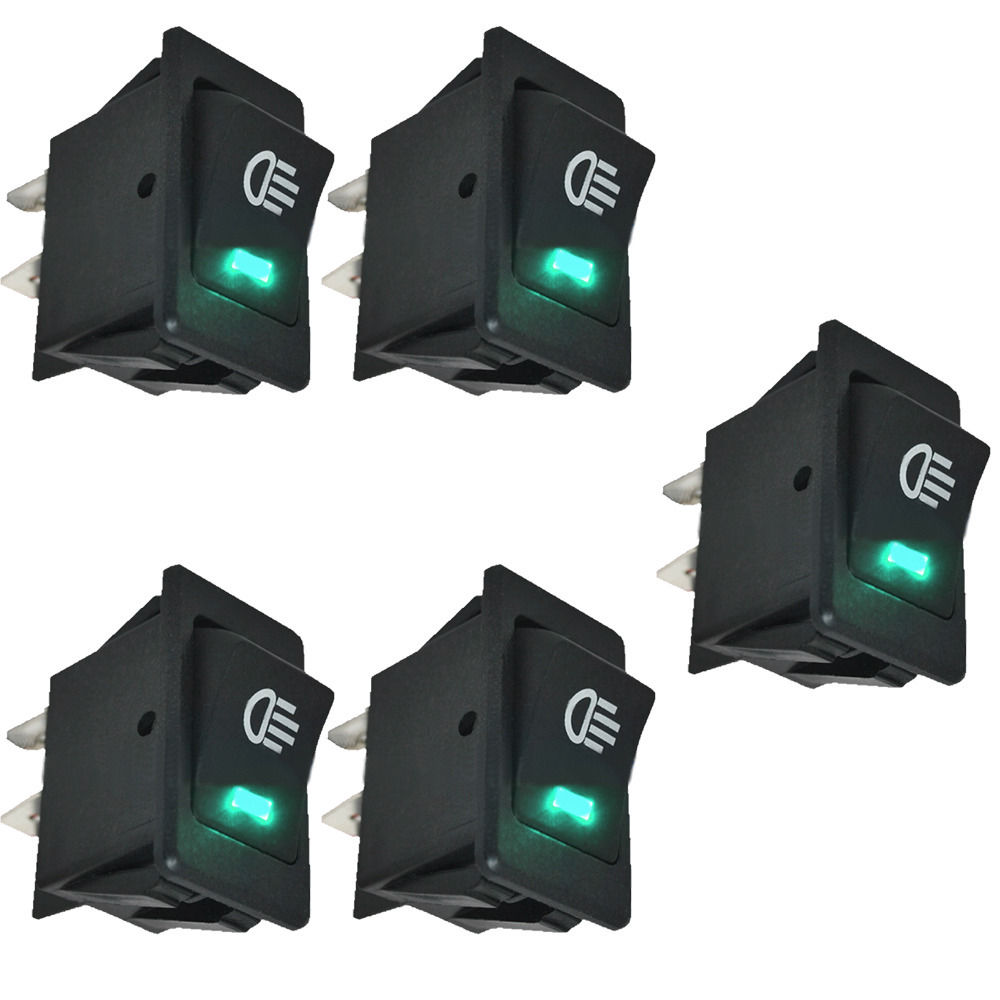 EE support 5Pcs 12V 35A Universal Car Accessories Auto Fog Light Rocker Toggle Switch Colors LED Dashboard XY01