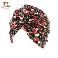 New cotton floral twist turban spring hair cap chemo hat