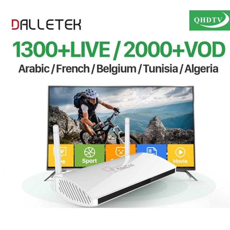 EU US UK AU Arabic IPTV Box Leadcool Smart Android TV Box 1 Year QHDTV IPTV Subscription 1300 Channels Turkish French IPTV Box dalletektv leadcool android smart tv box cortex a7 quad core 1g 8g h 265 with iptv europe uk french italy channel subscription