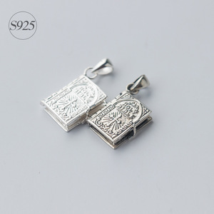 Image 4 - 1pc 925 Sterling Silver Holly Bible Necklaces & Pendants