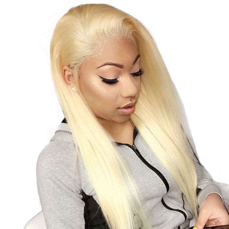 Blonde 360 Lace Frontal Wig Pre Plucked With Baby Hair 613 Lace Front Wig 150 Density