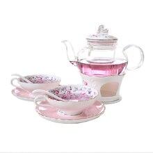 Новое поступление, креативный складной чайный набор, стеклянный керамический чайник с пузырьками, чайная чашка для приготовления фруктов, британский послеобеденный чай, подарок