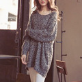 Long Oversized Sweater Dress Christmas Wool Knitted Pullovers Jumper Pull Femme Womens Fluffy Cashmere Knitwear Winter Coat Tops