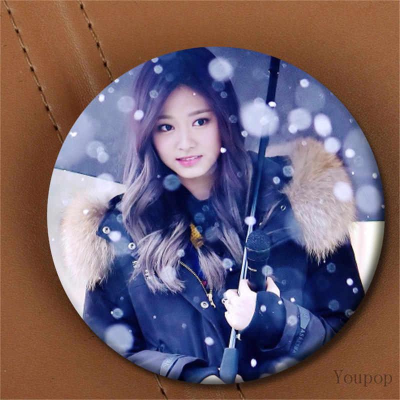 Youpop Kpop Korea Dua Kali Ketiga Mini Album Twicecoaster LANE1 58 Mm Putaran Badge Pin dan Bros untuk Pakaian Topi Tas Ransel