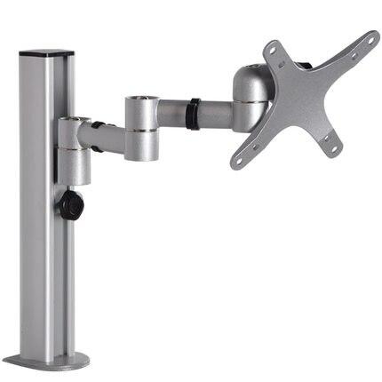 DM-6 10-27 aluminum dual arm lcd tv table mount tilt 360 rotate monitor desk stand vesa 75 100 rotatable bracket ...