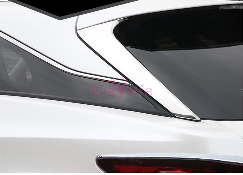 Stainless Steel Rear Window Glass Moulding Trims Car Styling 2016 <font><b>2017</b></font> for <font><b>Lexus</b></font> <font><b>RX</b></font> 450h 350 270 Accessories image