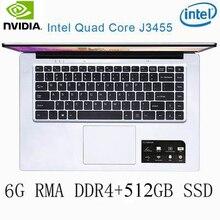 P2-26 6G RAM 512G SSD Intel Celeron J3455 NvIDIA GeForce 940M Gaming laptop keyboard and OS language available for choose