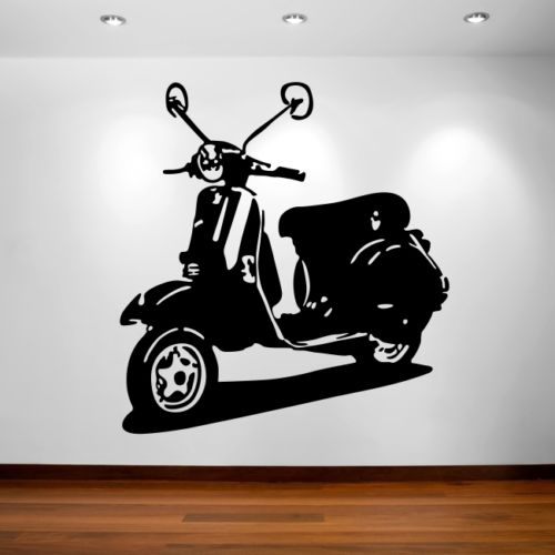 Moped scooter wall art stickers hipster vespa sexy bike decal art vinyl sticker in wall stickers from home garden on aliexpress com alibaba group