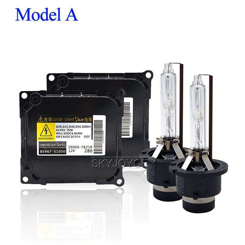 Image 2 - SKYJOYCE Car Headlight HID Kit 35W Yeaky D2S D4S HID Xenon Bulb 4500K 5500K 6500K D2R D4R D2S D4S Xenon Ballast 35W Yeaky Kit-in Car Headlight Bulbs(Xenon) from Automobiles & Motorcycles