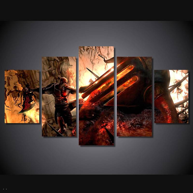 Hd Printed God Of War Kratos Painting Canvas Print Room Decor Print Poster Picture Canvas Free Shipping/90998