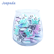 Joepada 100Pcs Fox Baby Teether Animal Shape Food Grade silicone Beads Oral care Toy DIY Pacifier Chain Necklace Accessorie