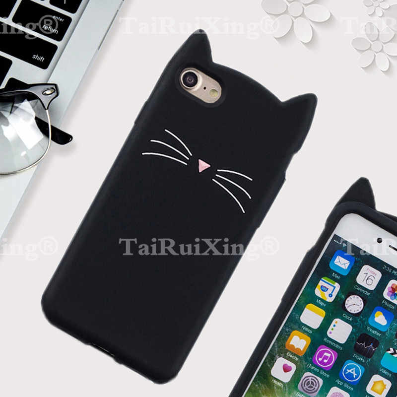 Hot sales! 3D Cute Cat Phone Silicone soft Case Cover For LG G7 G 7 Cases  Gel Shell For LG G7
