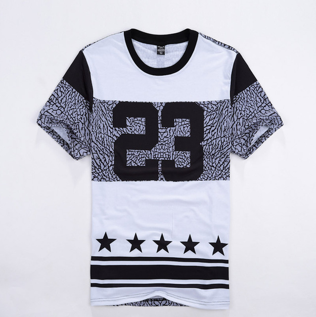 3be8b66a23e Men Hip Hop Street wear t shirt Number 23 Printed Men Casual Fashion Tshirts  Crewneck Short