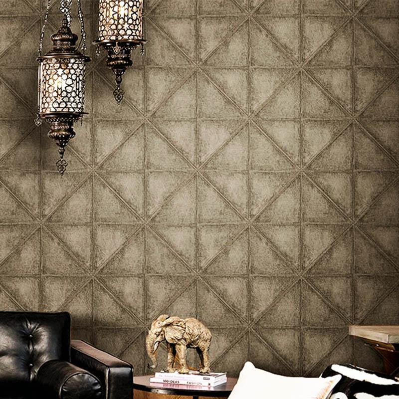 PVC Waterproof Wallpaper 3D Stereo Imitation Leather Diamond Wallpaper Hotel KTV Bar Cafe Backdrop Wall Decor Papel De Parede 3D