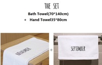 2pcs Set Free Shipping Luxury Bath Towel And Hand Towel Set 100 Cotton High Quality Monthly