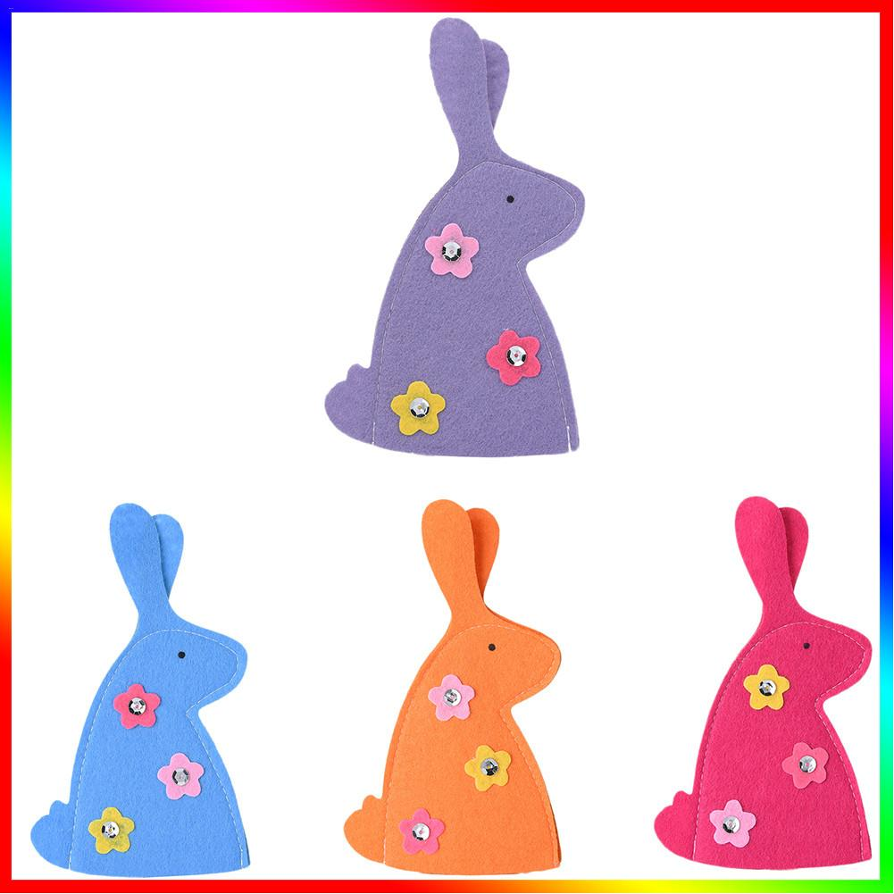 4PCS/Lot Easter Bunny Egg Covers Egg Decoration 11 x 18cm(China)