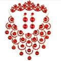 2016 горячая распродажа медный сплав красочные щепка кристалл люкс ошейники ожерелье висит мода ювелирных изделий платья аксессуары
