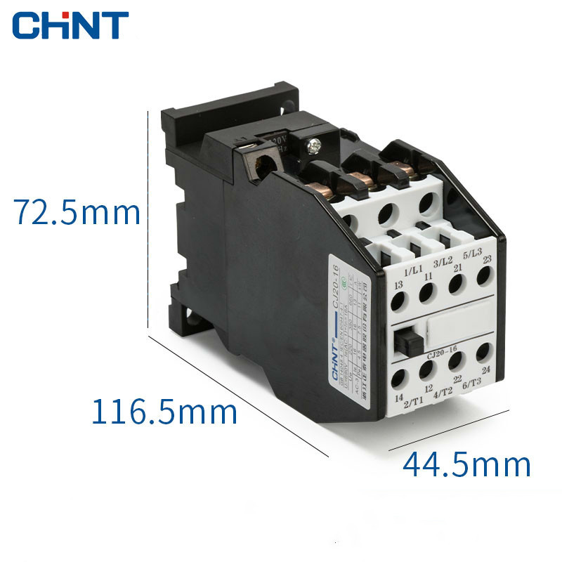CHINT Household Two Normally Open Two Often Close Communication Contactor CJ20 16A 380v 220v 110v 36v in Contactors from Home Improvement