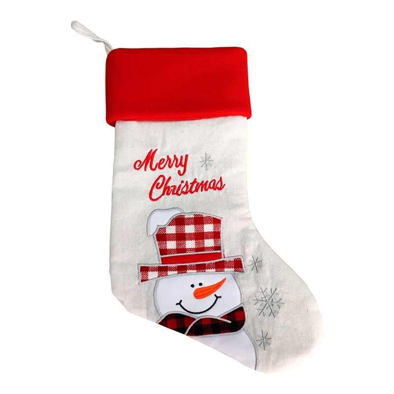 Новое поступление Рождество большой чулок 50 шт./лот Санта Холст носок Подарочная сумка украшения Xmas мешок для конфет Рождество дерево украшения