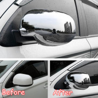 Fit For Mitsubishi Outlander 2013 2018 Car Rear View Mirror Cap Garnish Styling Cover Exterior Accessories Without Turn Light