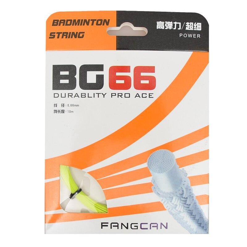 10pcs FANGCAN visoko elastična vrvica za badminton BG66 z napetostjo vrvice 23-26lbs trability pro ace 5 barv
