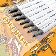 Получить скидку TOUCHNEW 30-80 цвета Книги по искусству Mark алкоголь маркером растворимые Ручка C Книги по искусству Ун граффити Книги по искусству эскиз маркеры для дизайнеров Manga