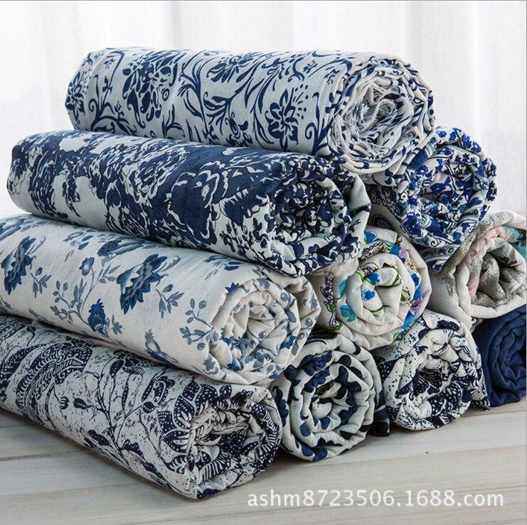 Blue And White Porcelain Style Clothes Dresses Cotton