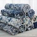 Синий и белый фарфор стиль одежды платья хлопок льняная ткань Скатерть Домашний декоративный Tissu швейный текстиль 2022BL