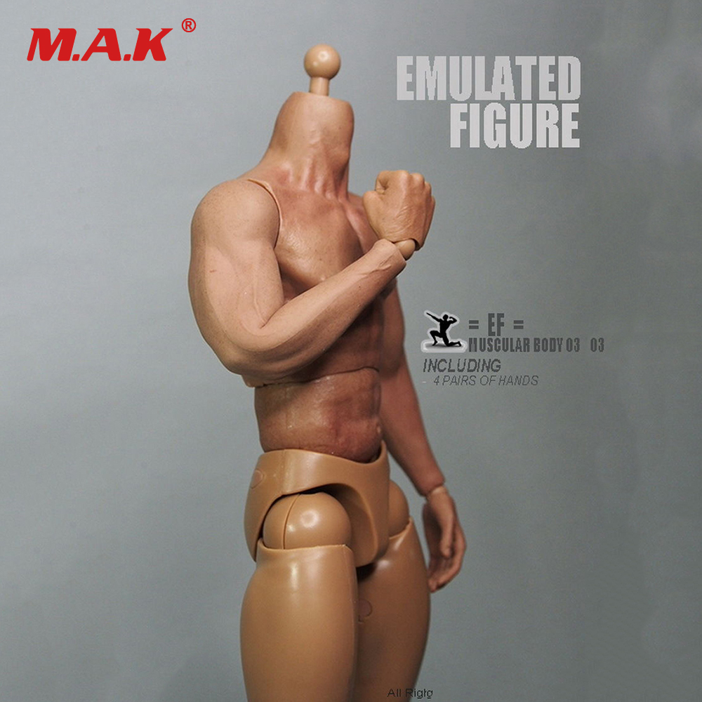 1/6 Scale 3.0 Nude Muscular Body Male Action Figure Similar to HT Thor Body With Seamless Arms Collectible DIY In Stock 1 6 scale figure doll muscular body for 12 action figure doll accessories europe strong muscles or asia muscular body