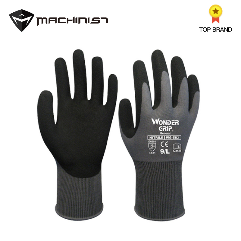 1 Pair Natural Rubber Gloves Wear-resistant Breathable Auto Repair Storage And Handling Gardening Labor Insurance Work Gloves