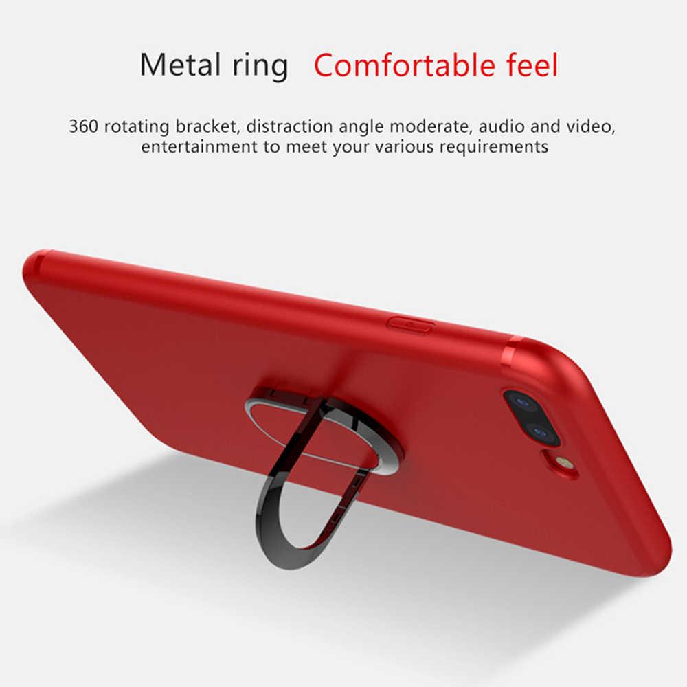Carcasa magnética de coche para iPhone 8 7 6 6 s Plus magnética de lujo 360 Rotaion para iPhone X 8 Coque Capa