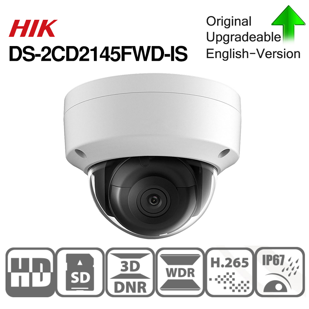 Image 3 - Hikvision DS 2CD2145FWD I POE Camera Video Security 4MP IR Network Dome Camera 30M IR IP67 IK10 H.265+ SD card slot-in Surveillance Cameras from Security & Protection