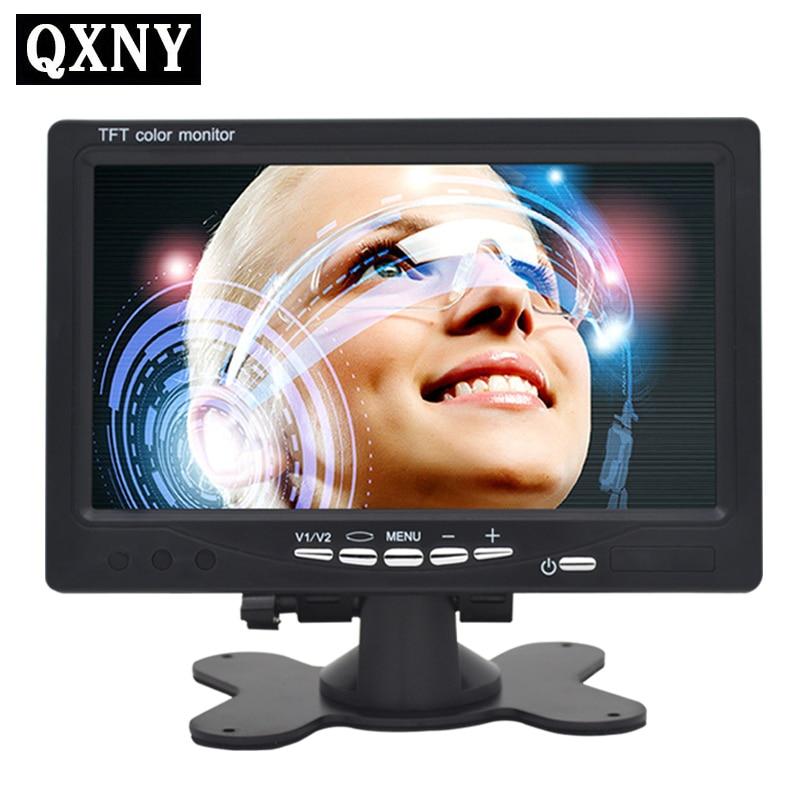 Haute définition numérique LCD moniteur de voiture, 2way entrée vidéo RCA V1 V2, idéal pour DVD, MAGNÉTOSCOPE d'affichage, de surveillance