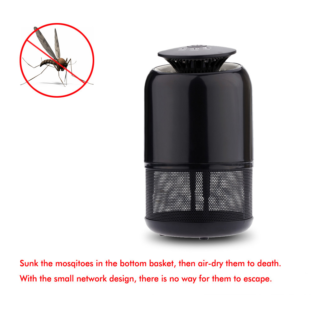 Smart UV LED Mosquito Killer Lamp US/EU Plug Mosquitoes Fly Killer Lamp Bug Flying Insect Pest Zapper Lighting Sucking Device