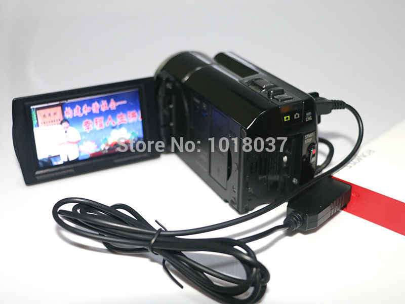 5 V USB AC-L20 AC-L25 AC-L200 Power Adapter Sạc Cung Cấp Cable Đối Với Sony DCR-SR47 DCR-SR48-SR50 DCR-SR52 DCR-SR55
