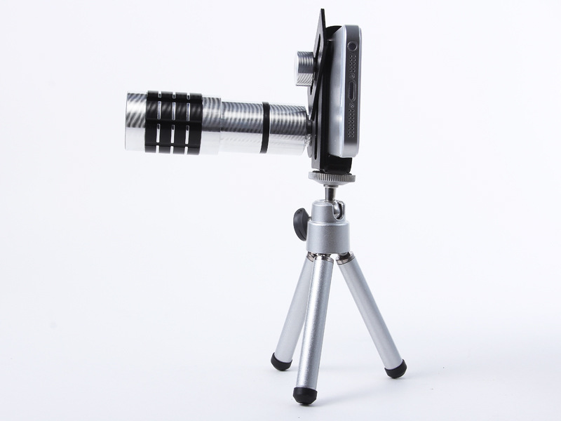 Universal 12X Zoom Phone Camera Lens Telephoto Telescope With Mount Clip Holder Mini Tripod Stand Lens For iPhone Smartphone 16
