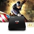 De alta qualidade Caixa de TV Android Rockchip 3229 V88 Quad-Core 1G 8G Android 5.1 4 K 10-bit 60fps wi-fi 3D 1080 p Mini Smart Media jogador