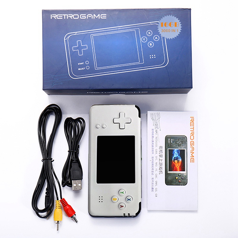 Nouvelle Console de jeu vidéo portable rétro 16 GB jeu vidéo rétro lecteur de jeu portable intégré 3000 jeux enfants cadeau